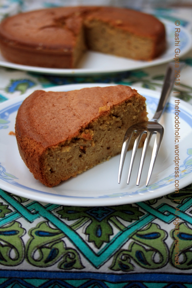 Spiced pumpkin and sour cream cake